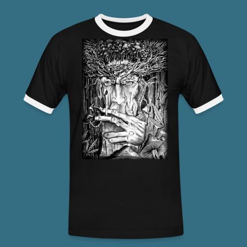 Mushroom Man - Koszulka męska z kontrastowymi wstawkami