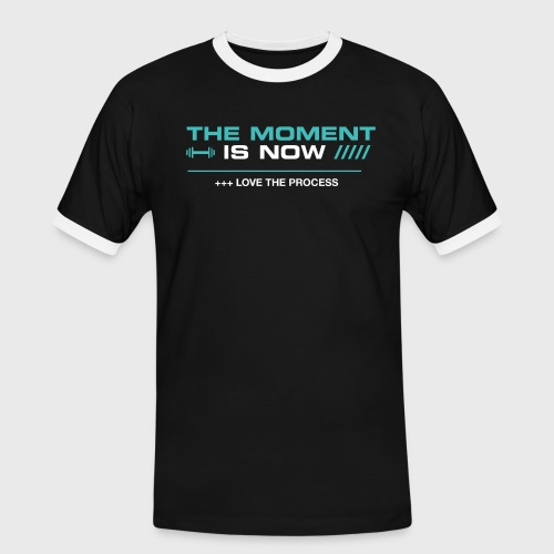THE MOMENT IS NOW - Camiseta contraste hombre