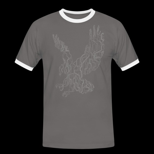 Circuit eagle White - Herre kontrast-T-shirt