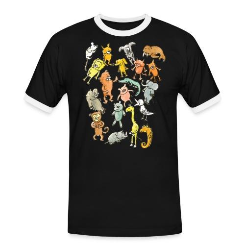 Farandole d'animaux - T-shirt contrasté Homme