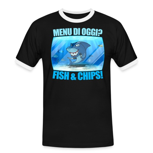 Fish and Chips - Maglietta Contrast da uomo