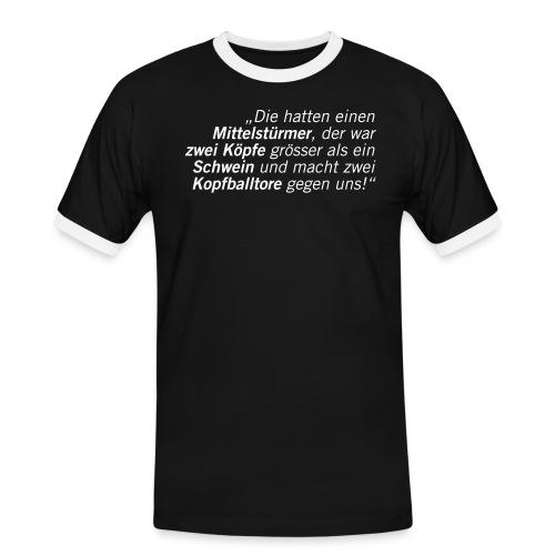 Fussball Fan Shirt - schwein - hans meyer - Männer Kontrast-T-Shirt