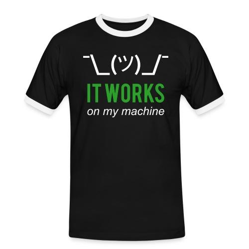 It works on my machine Funny Developer Design - Men's Ringer Shirt