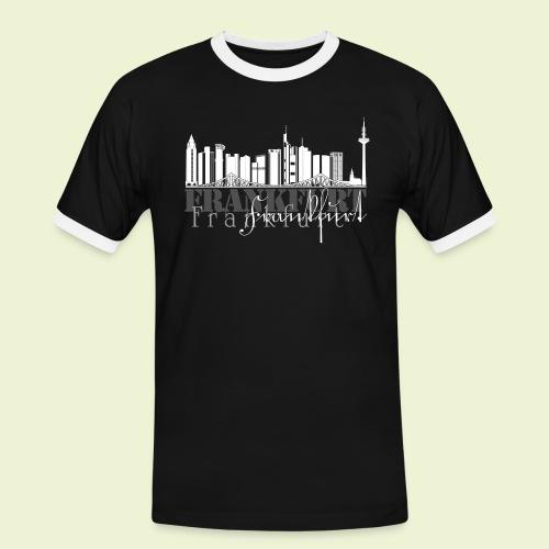 FFM - Frankfurt Skyline - Männer Kontrast-T-Shirt