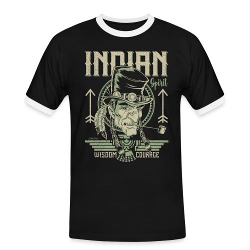 Espíritu indio - Camiseta contraste hombre