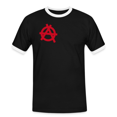 Anarchy symbol - red - Men's Ringer Shirt