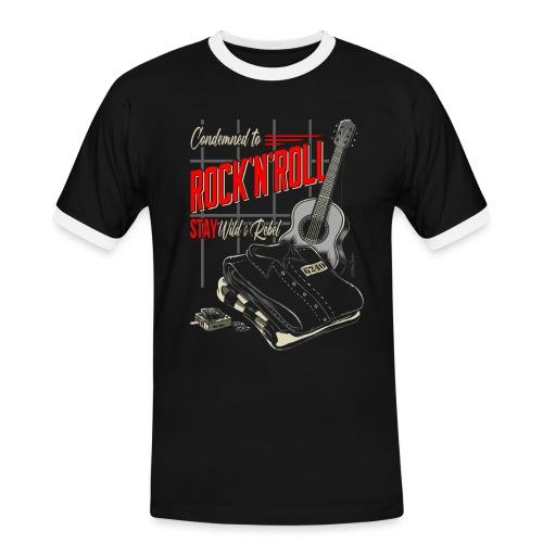 Condenado al Rock and Roll - Camiseta contraste hombre