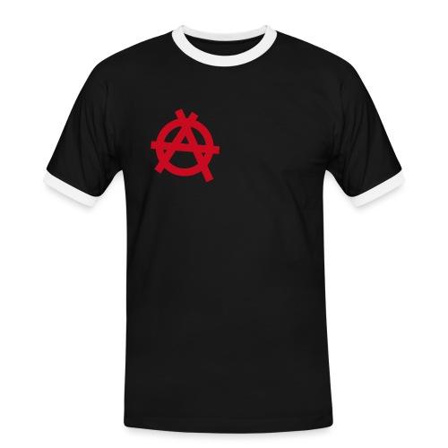 Anarchy symbol - red - Men's Ringer Shirt