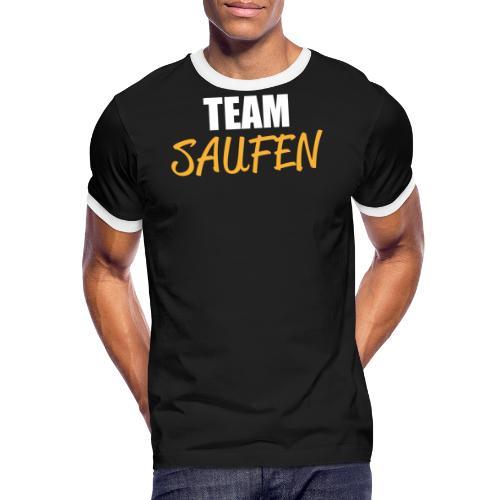 Team saufen Shirt - Männer Kontrast-T-Shirt