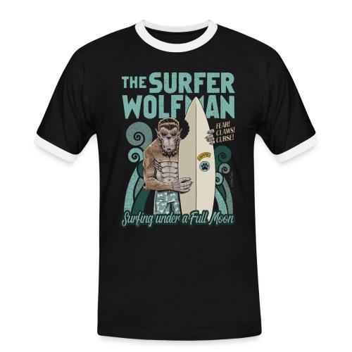 El hombre lobo surfista - Camiseta contraste hombre