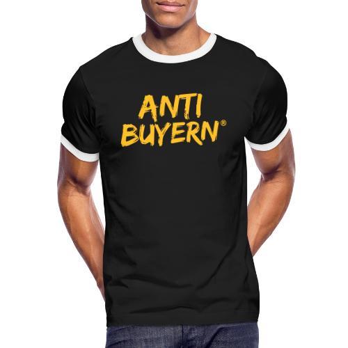 ANTI BUYERN YELLOW - Männer Kontrast-T-Shirt