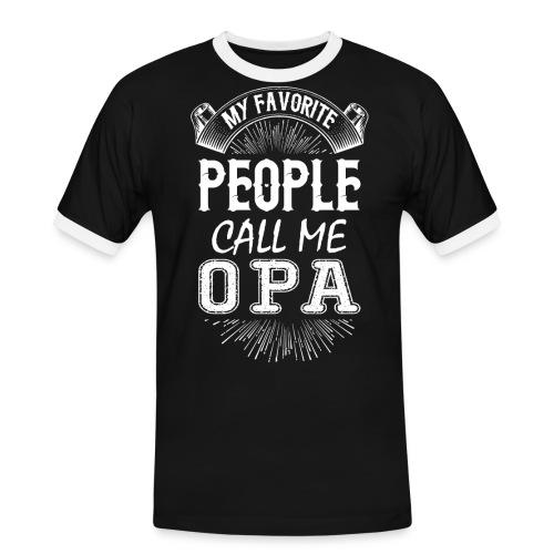 My Favorite People Call Me Opa - Men's Ringer Shirt