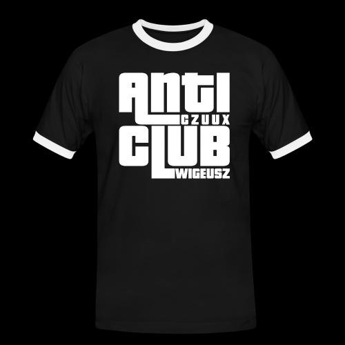 Anti Czuux Wigeusz Club - Koszulka męska z kontrastowymi wstawkami