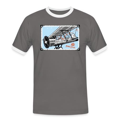 Doppeldecker - Männer Kontrast-T-Shirt