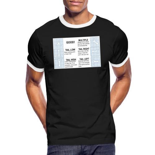 Papertune - Kontrast-T-shirt herr