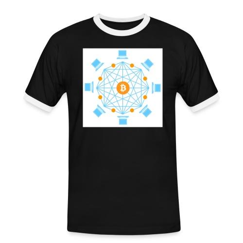 Blockchain - Miesten kontrastipaita