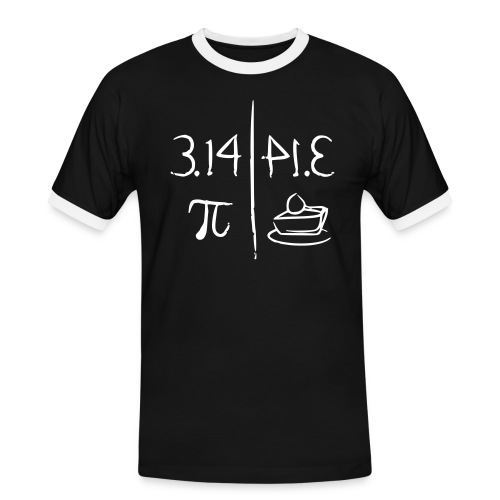 pi vs pie - Men's Ringer Shirt