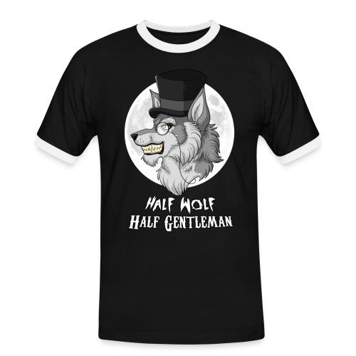 Half Wolf Half Gentleman - Koszulka męska z kontrastowymi wstawkami