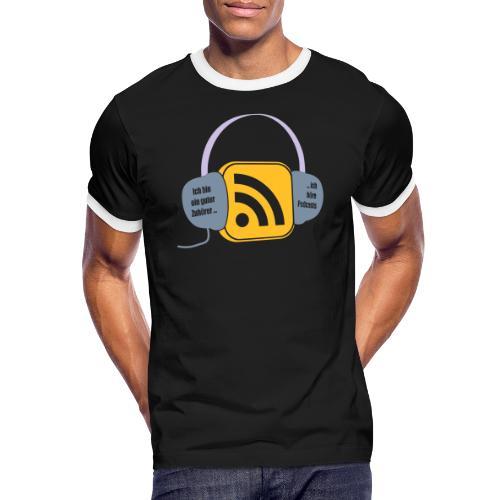 Podcasts - Männer Kontrast-T-Shirt