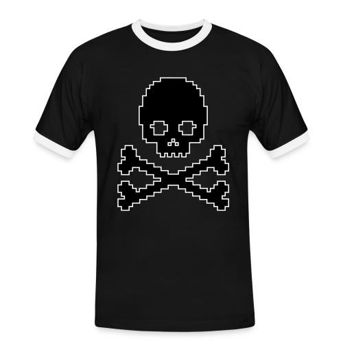 PIXEL SKULL med streg - Herre kontrast-T-shirt