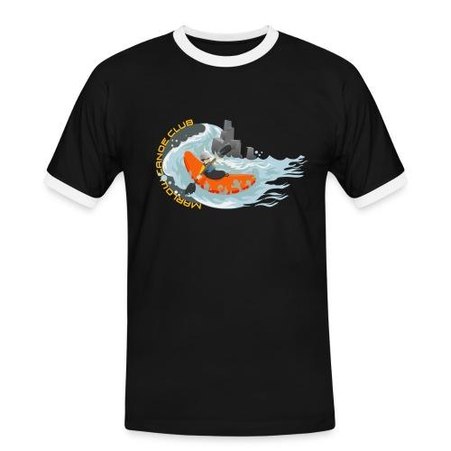 kayakillust2yellow - Men's Ringer Shirt
