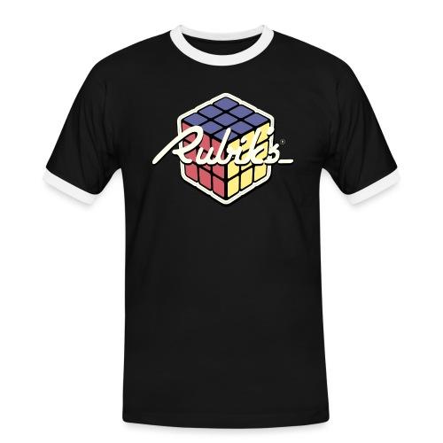 Rubik's Cube Retro Style - Men's Ringer Shirt