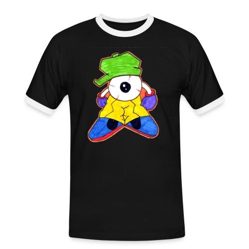Graffiti Eye - Männer Kontrast-T-Shirt