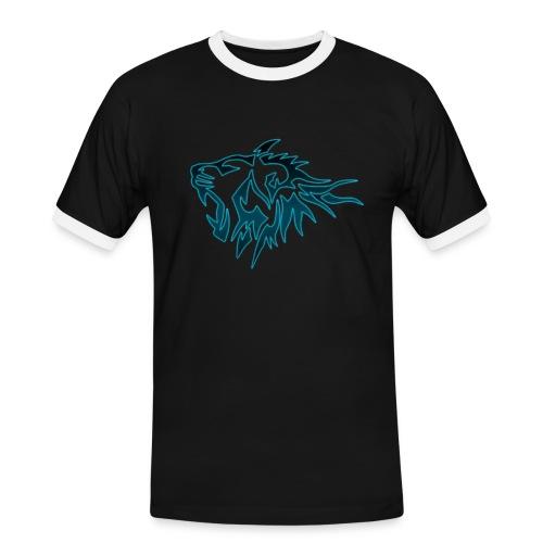 Tee Shirt Tigres Bleu - T-shirt contrasté Homme
