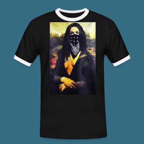 Mona Lisa Gangsta - Koszulka męska z kontrastowymi wstawkami
