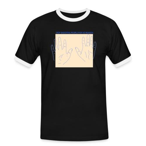 stop shooting - Männer Kontrast-T-Shirt