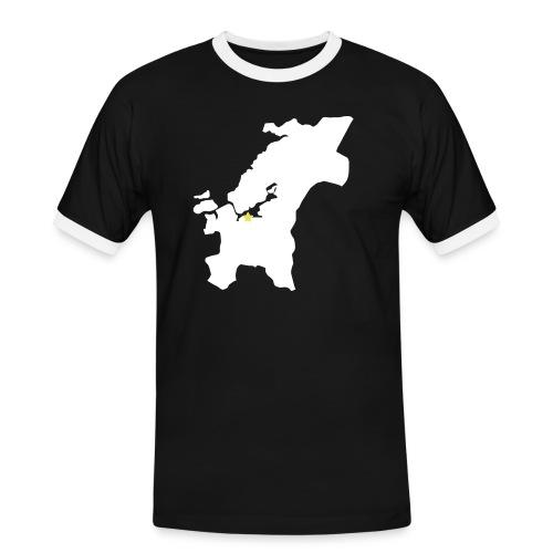 trndelag m stjerne - Kontrast-T-skjorte for menn