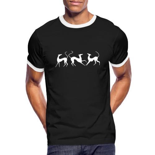 Windhundfries - Männer Kontrast-T-Shirt