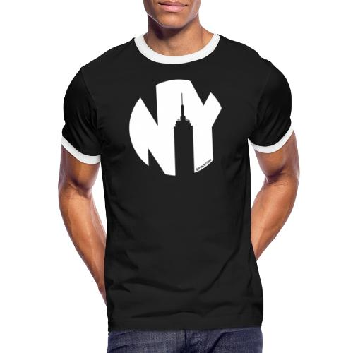 Logo French Yorker blanc - T-shirt contrasté Homme