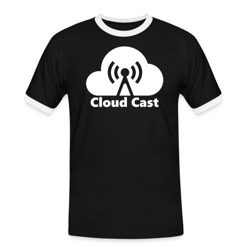 Cloud Cast White mit Schriftzug - Männer Kontrast-T-Shirt