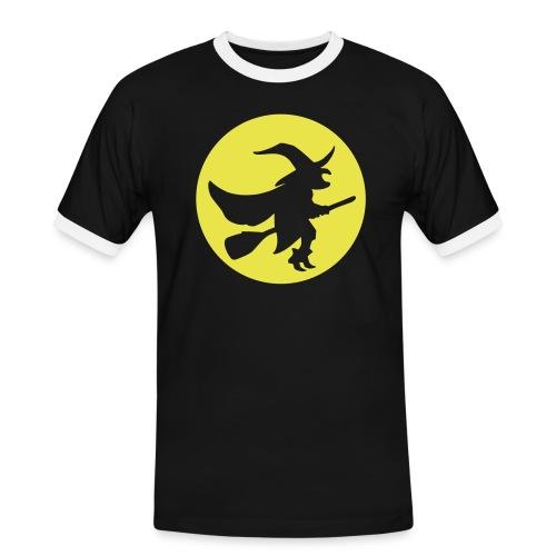 hexe_1farbig - Männer Kontrast-T-Shirt