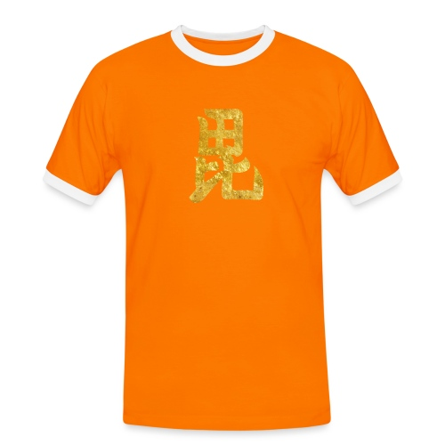 Uesugi Mon Japanese samurai clan in gold - Men's Ringer Shirt