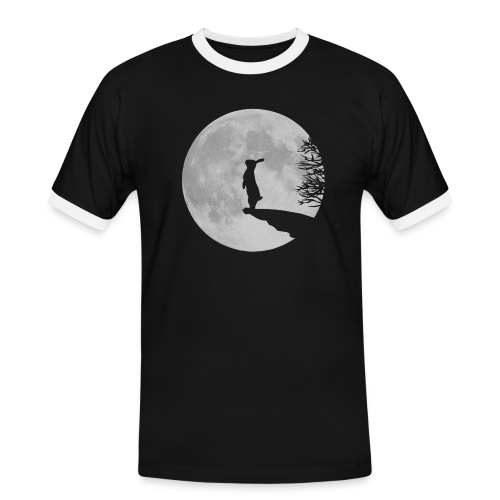 rabbit_wolf-png - Men's Ringer Shirt
