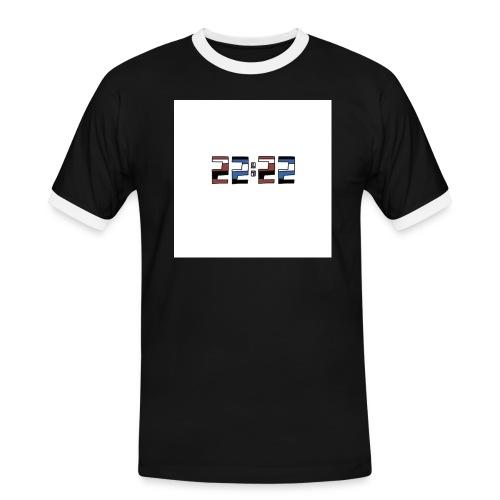 22:22 buttons - Mannen contrastshirt