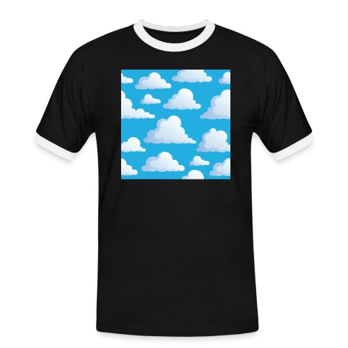 Cartoon_Clouds - Men's Ringer Shirt