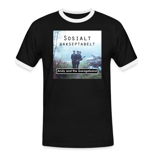 Sosialt Uakseptabelt - Kontrast-T-skjorte for menn