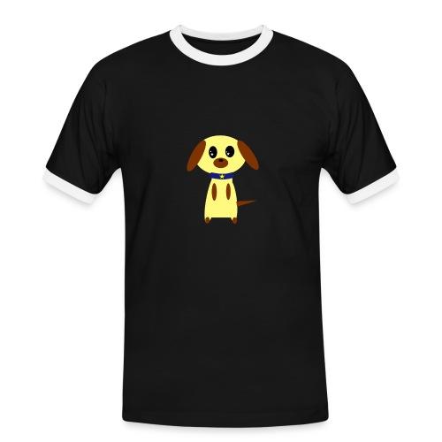 Dog Cute - Männer Kontrast-T-Shirt