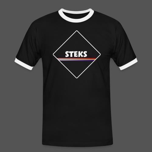 3Color STEKS™ Logo - Mannen contrastshirt