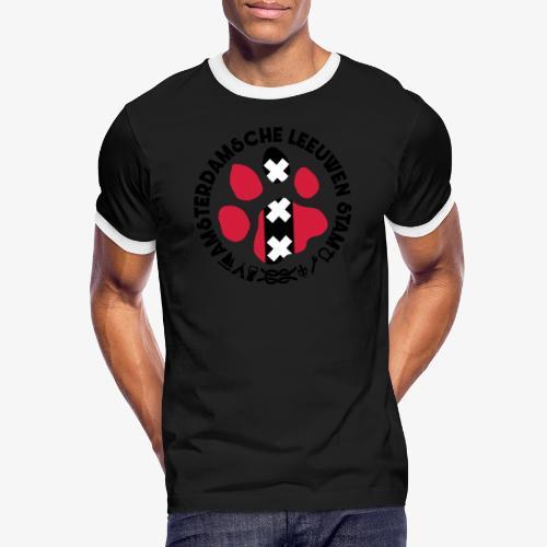 ALS witte cirkel lichtshi - Mannen contrastshirt