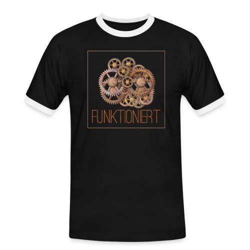 Zahnräder shirt - Männer Kontrast-T-Shirt