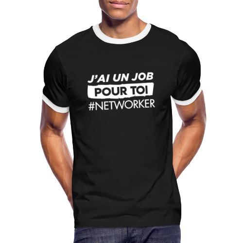 J'ai un Job - T-shirt contrasté Homme