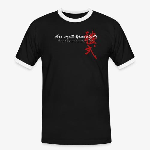 'Waza migaitte, Kokoro migaitte'' version 2 - T-shirt contrasté Homme