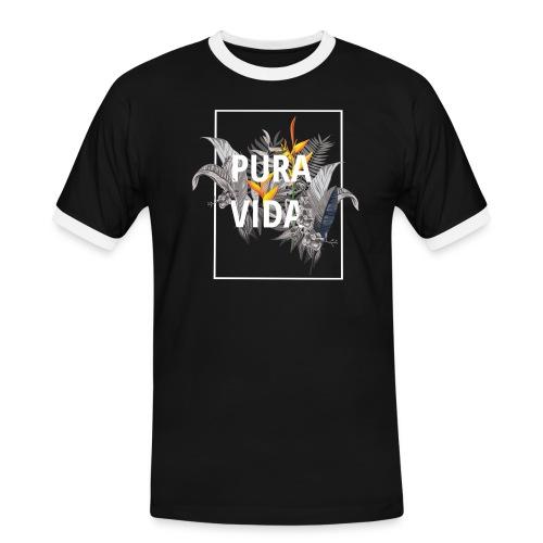 Pura vida / camisetas pura vida /pura vida t-shirt - Camiseta contraste hombre
