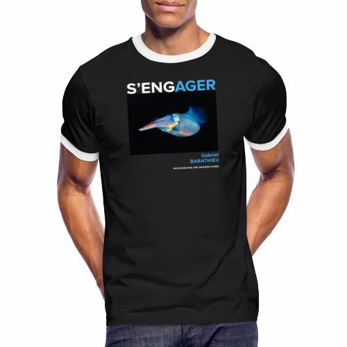 1 Achat = 1 Don à l'association Deep blue explore - T-shirt contrasté Homme