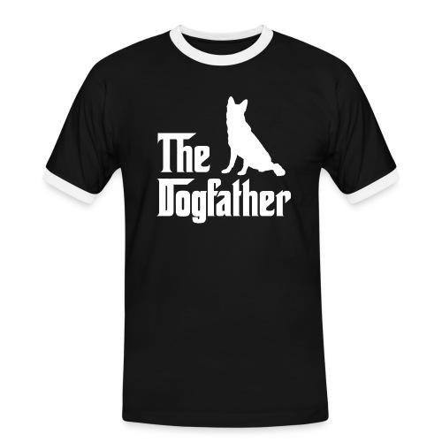 Dogfather Schäferhund weiss - Männer Kontrast-T-Shirt