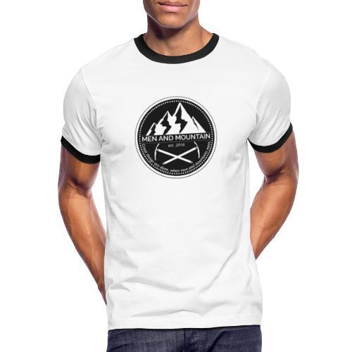 Men and Mountain - Original Logo - Männer Kontrast-T-Shirt